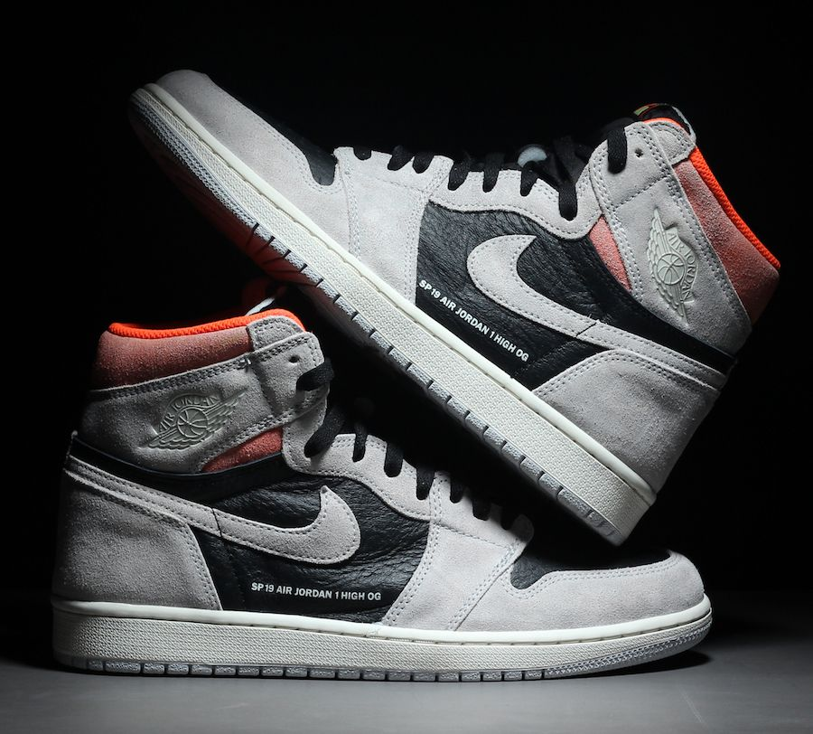 ad16dc2519c97f Air Jordan 1 Neutral Grey Hyper Crimson 555088-018 Release Date - SBD