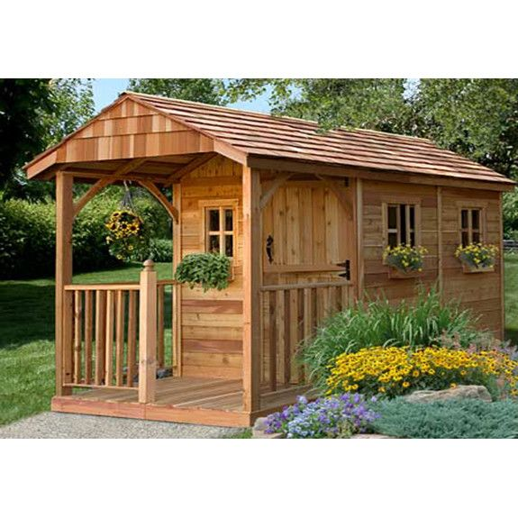 Superior Outdoor Living Today Santa Rosa 8 Ft. W X 12 Ft. D Wood Storage