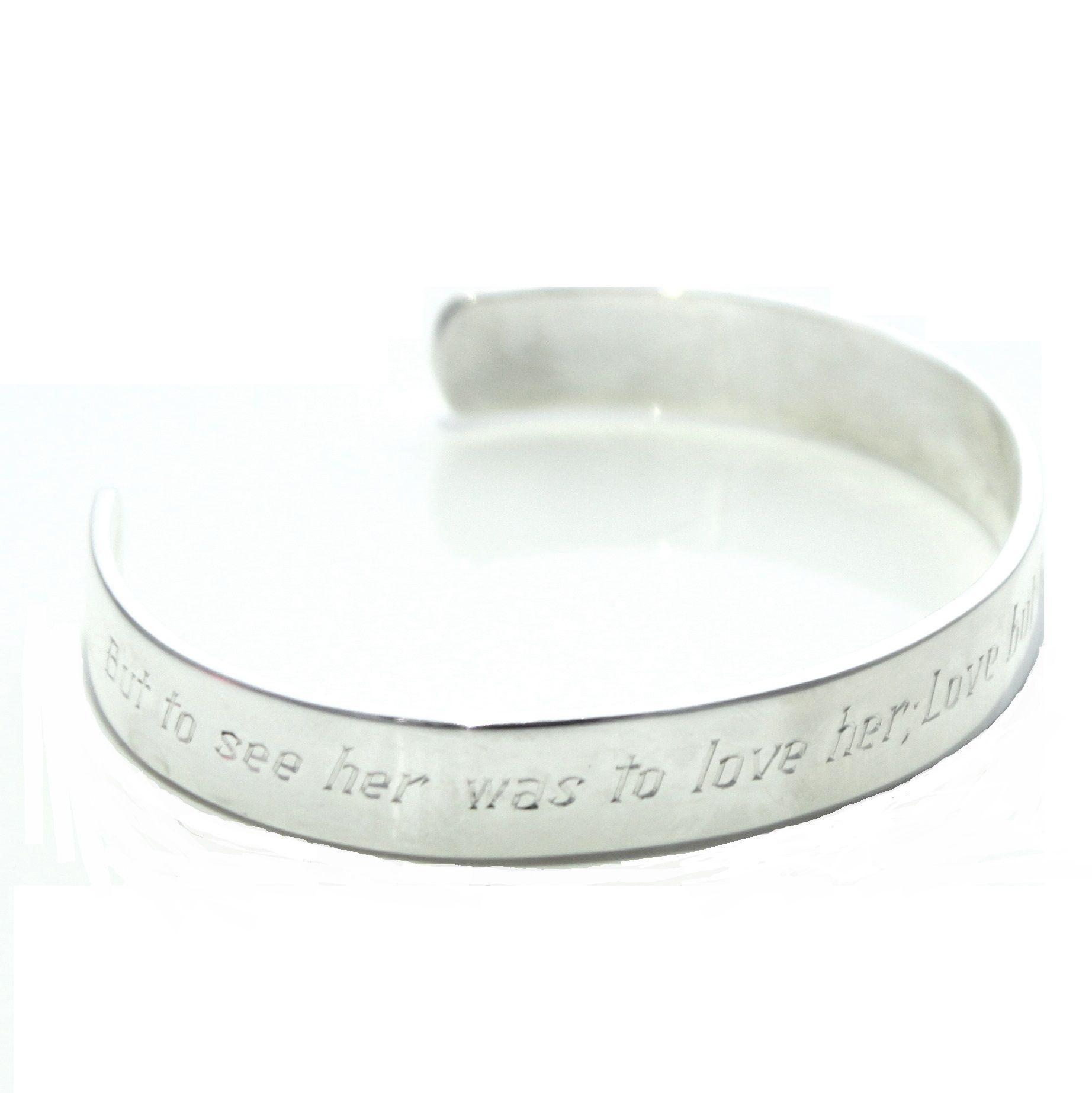 The Robert Burns Bangle Is A Solid Silver Bangle Featuring Words