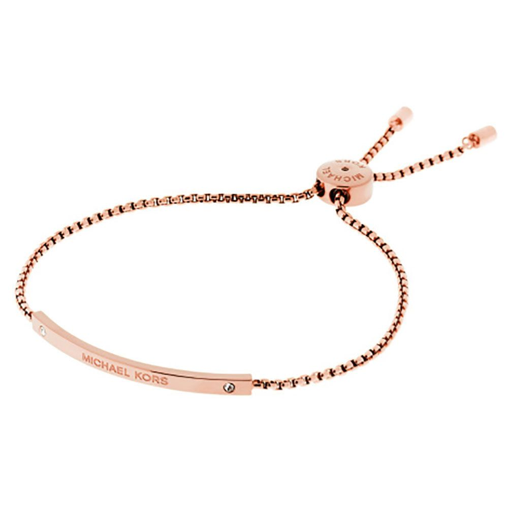 Michael Kors Rose Gold Tone Slider Bracelet