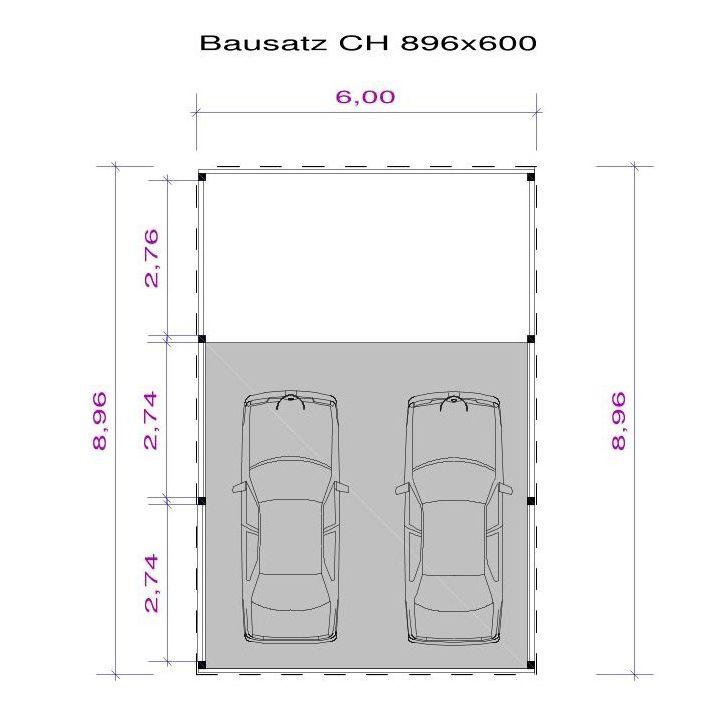 Carportbausätze, Carportkonstruktion, Dachschalung, Epdm