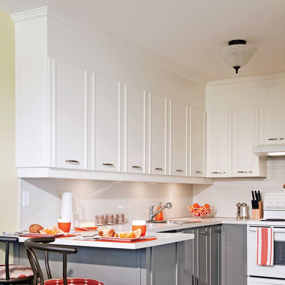 En Etapes Fermer L Espace Entre Les Armoires Et Le Plafond Je Decore Kitchen Cupboards Kitchen Cabinets Kitchen