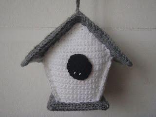 Amigurumi Bird Tutorial : Crocheted bird house free crochet pattern and tutorial free