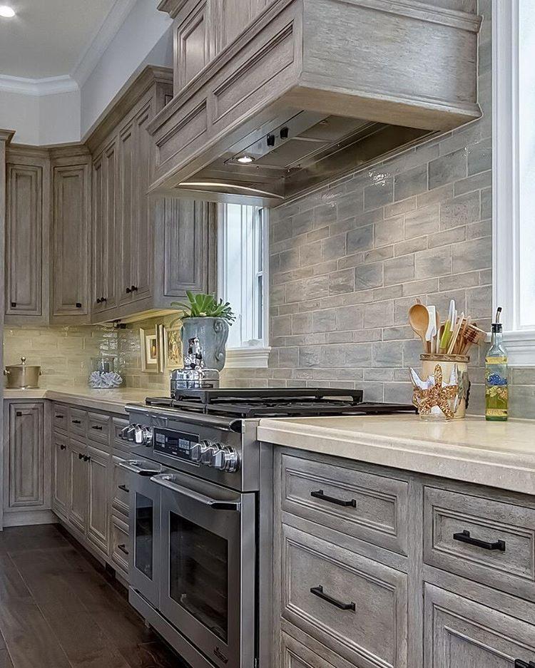 Grey Stained Knotty Alder Cabinets | www.stkittsvilla.com