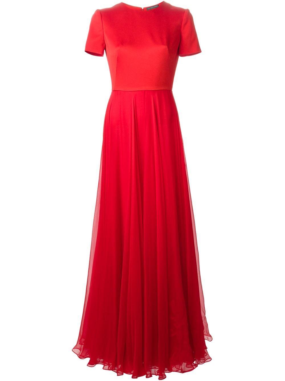 Alexander Mcqueen Pleated Evening Dress - Stefania Mode - Farfetch.com