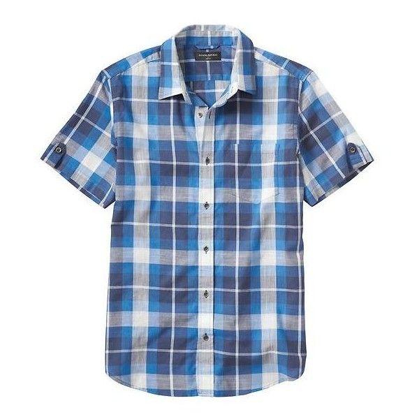 Banana Republic Men Factory Short Sleeve Plaid Shirt ($50 ...
