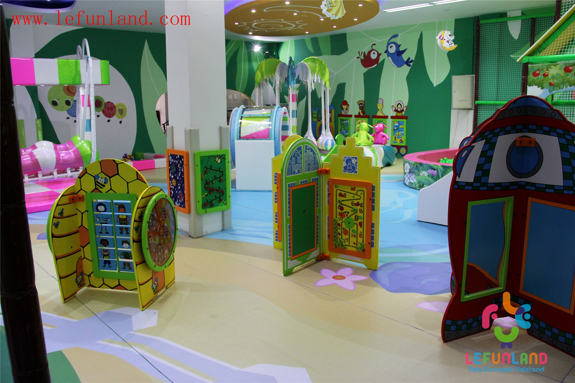 Wwwlefunlandcom Kids Indoor Playground Equipment,Kids Soft Indoor Playground,Jumping