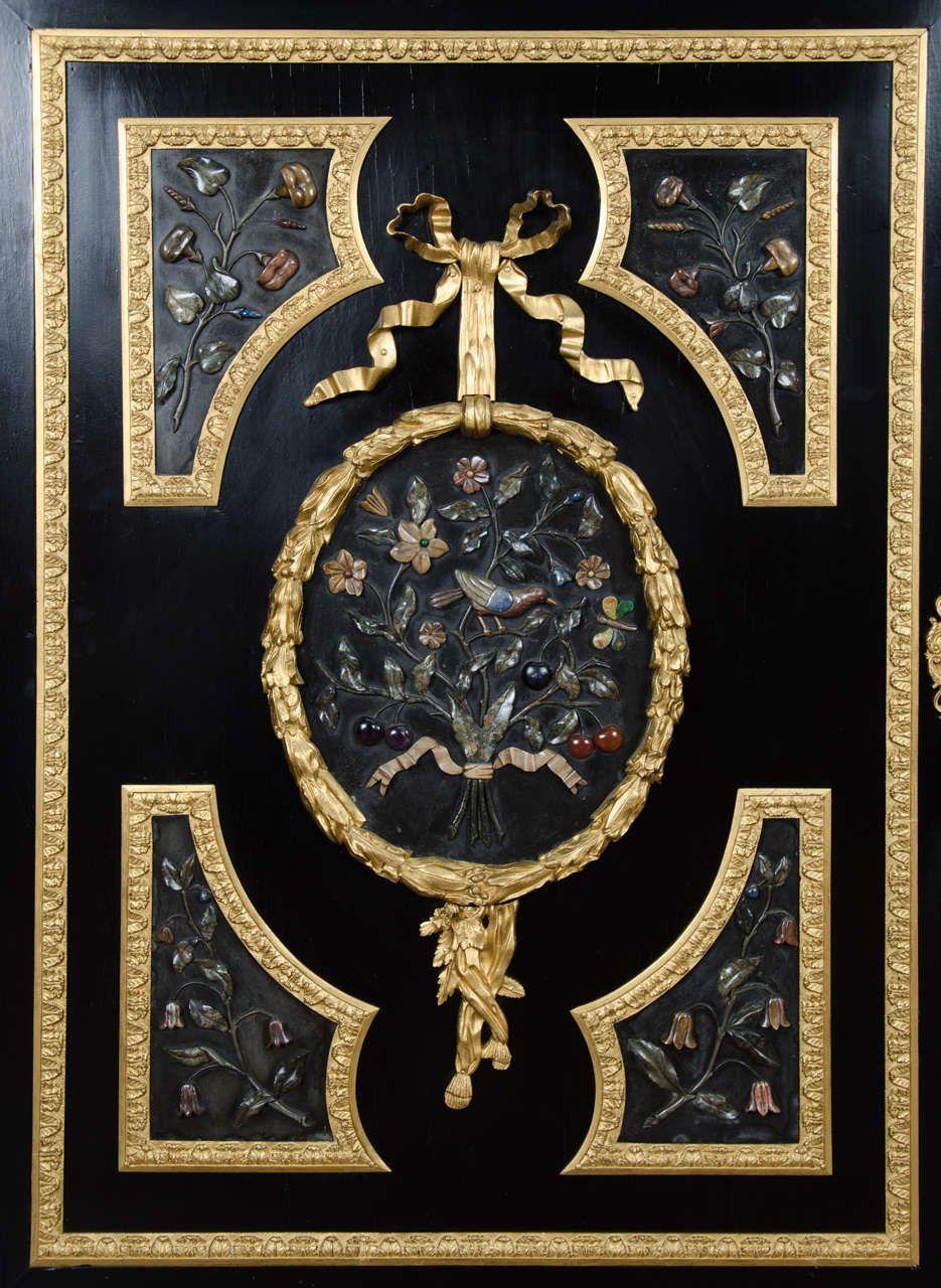 Large Pietra Dura Cabinet