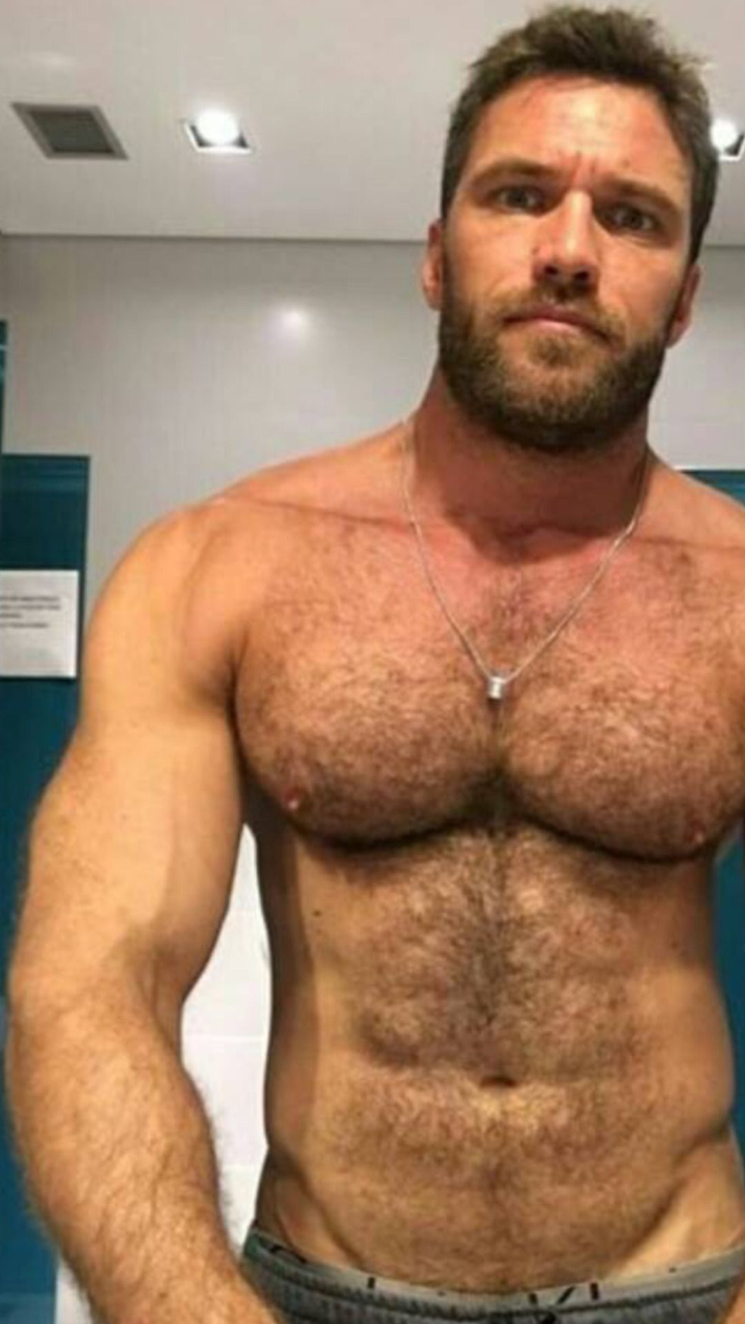 Hairy male muscle
