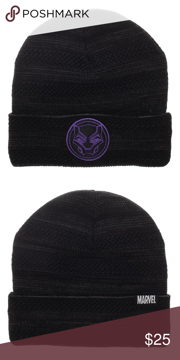 Black Panther Flyknit Beanie Hat Marvel Avengers This is for 1 Black  Panther Beanie Hat. 304c358fa84