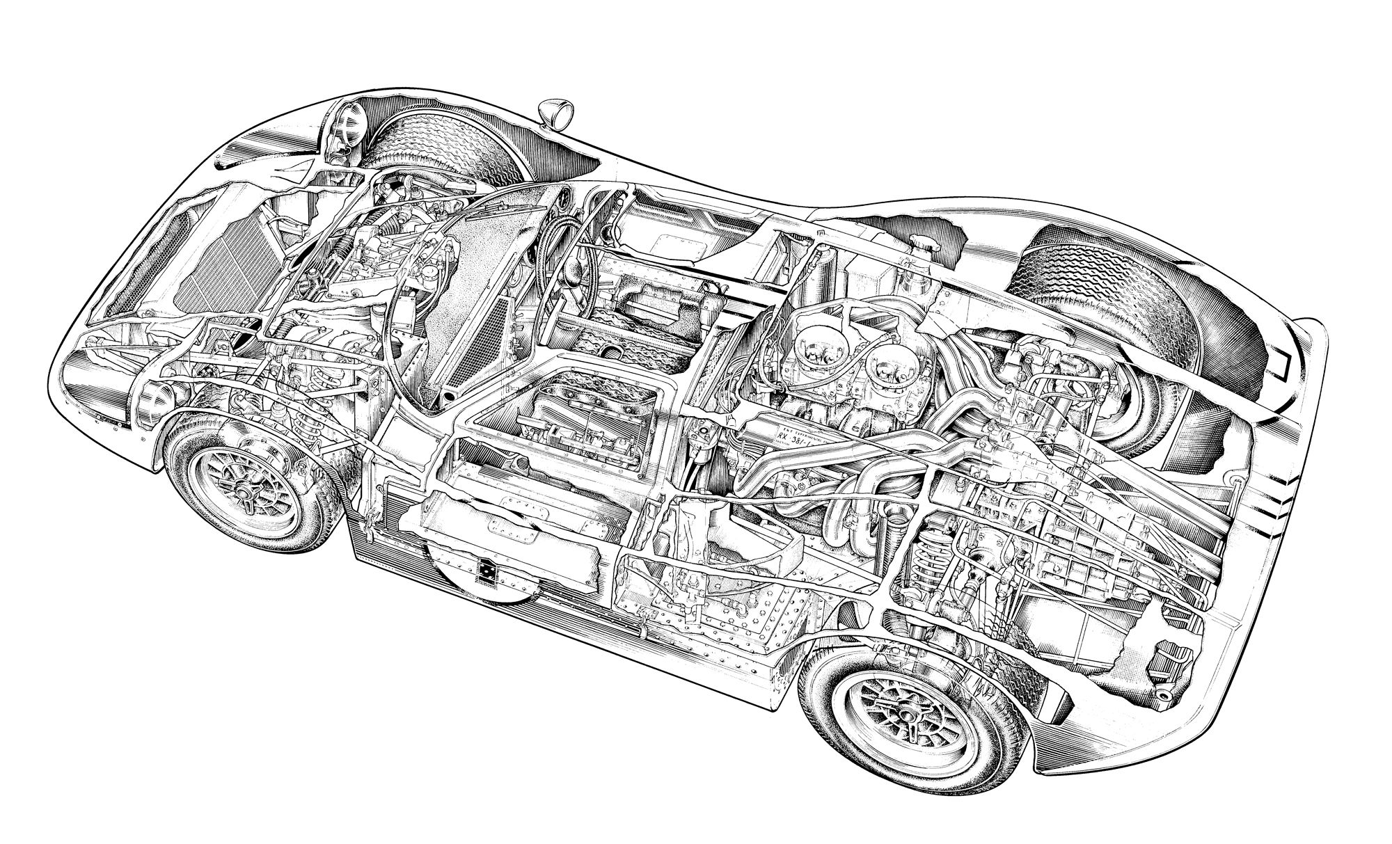 See Through 12 Of The World\'s Most Iconic Cars | Cutaway, Ford and Cars