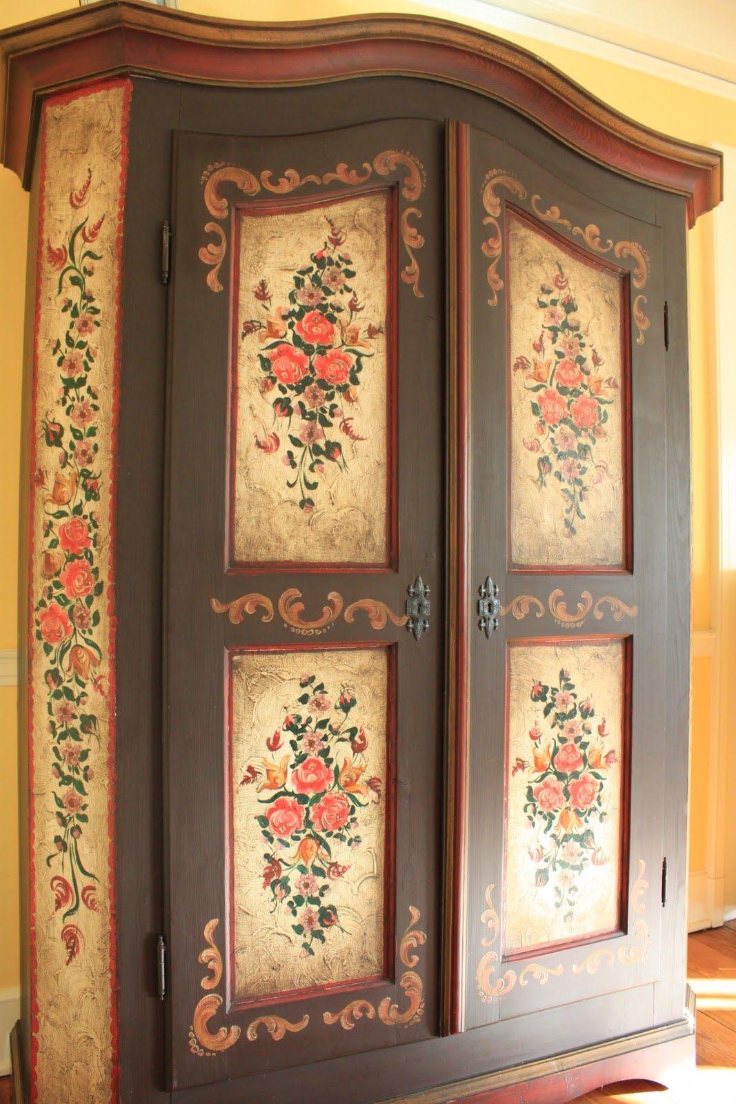 Beautiful Bavarian Folk Art Home Decor Furniture