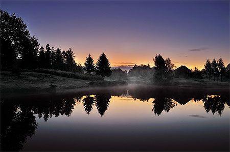 Lever de soleil aux Mille étangs