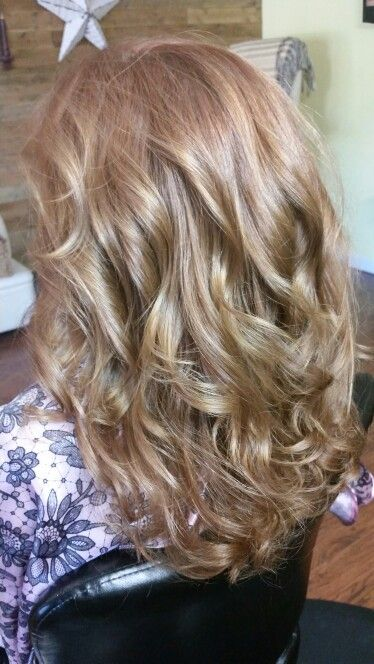 Long layers with beach curls
