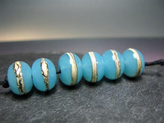 Handmade Lampwork  Beads by GlassBeadArt     Opal by GlassBeadArt, €6.00