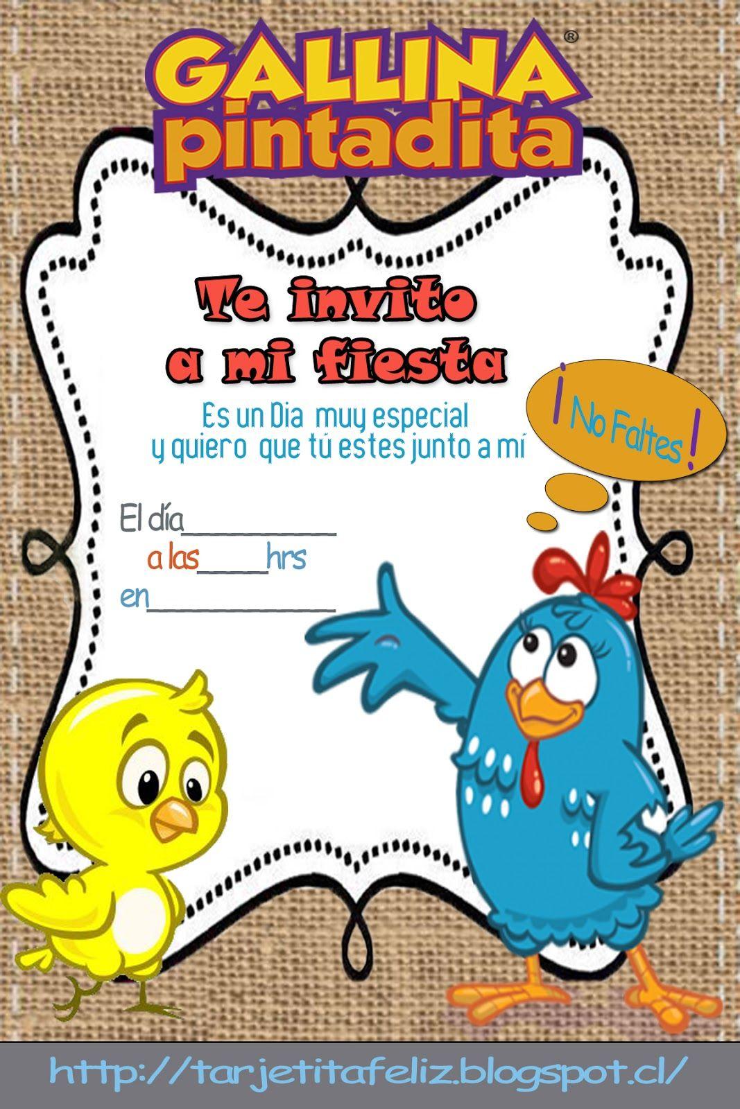 Invitaciones De La Gallina Pintadita Buscar Con Google
