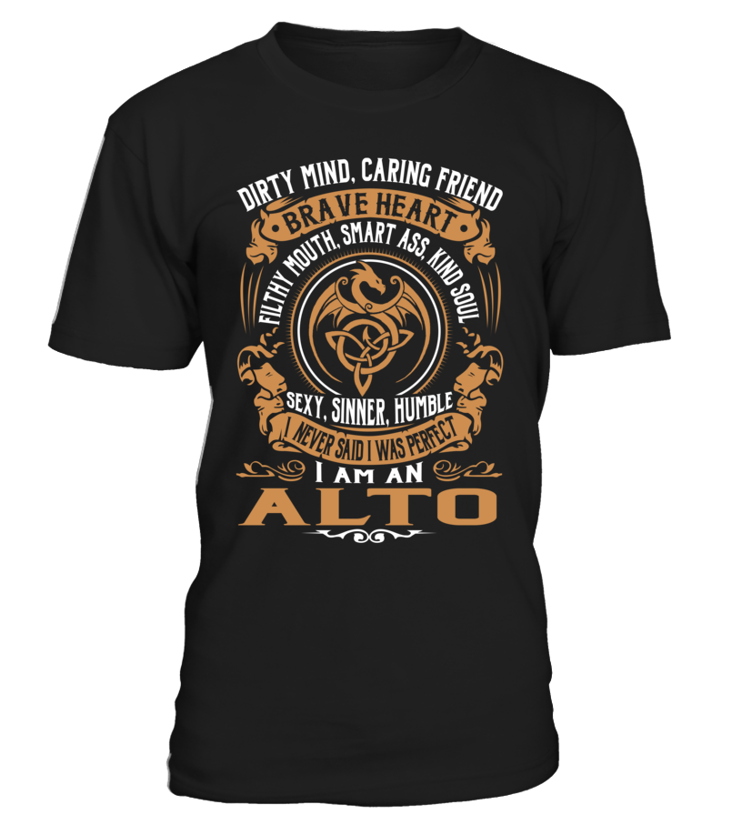ALTO Brave Heart Last Name T-Shirt #Alto