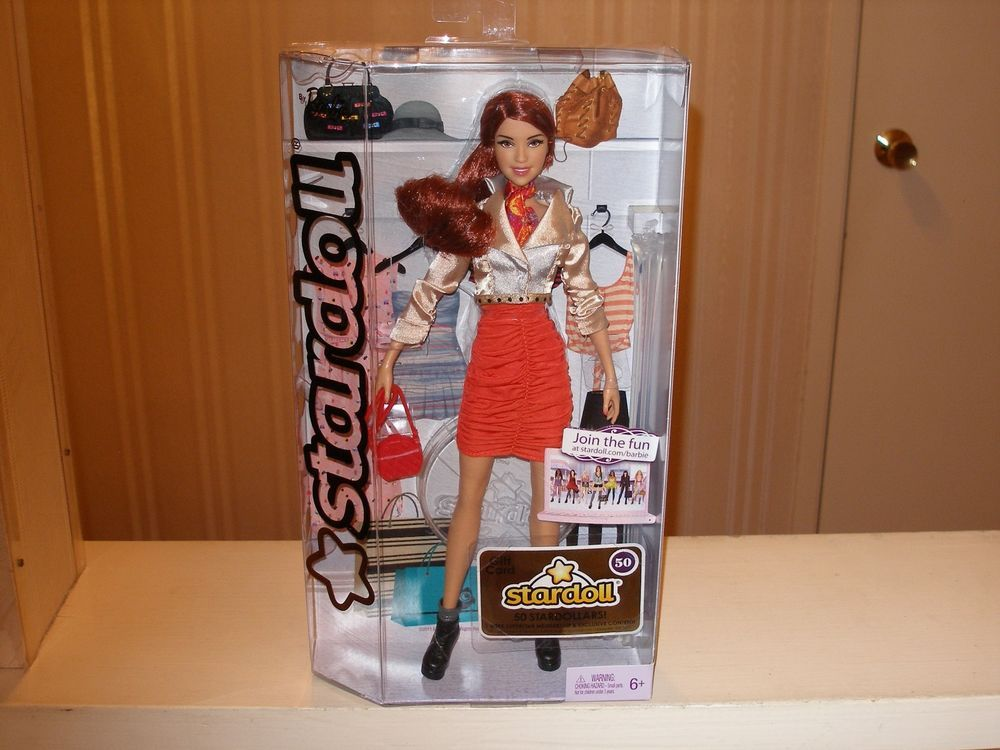 2011 STARDOLL BARBIE MATTEL FASHION DOLL  Redhead Orange Dress Style W2204 #Mattel #Dolls