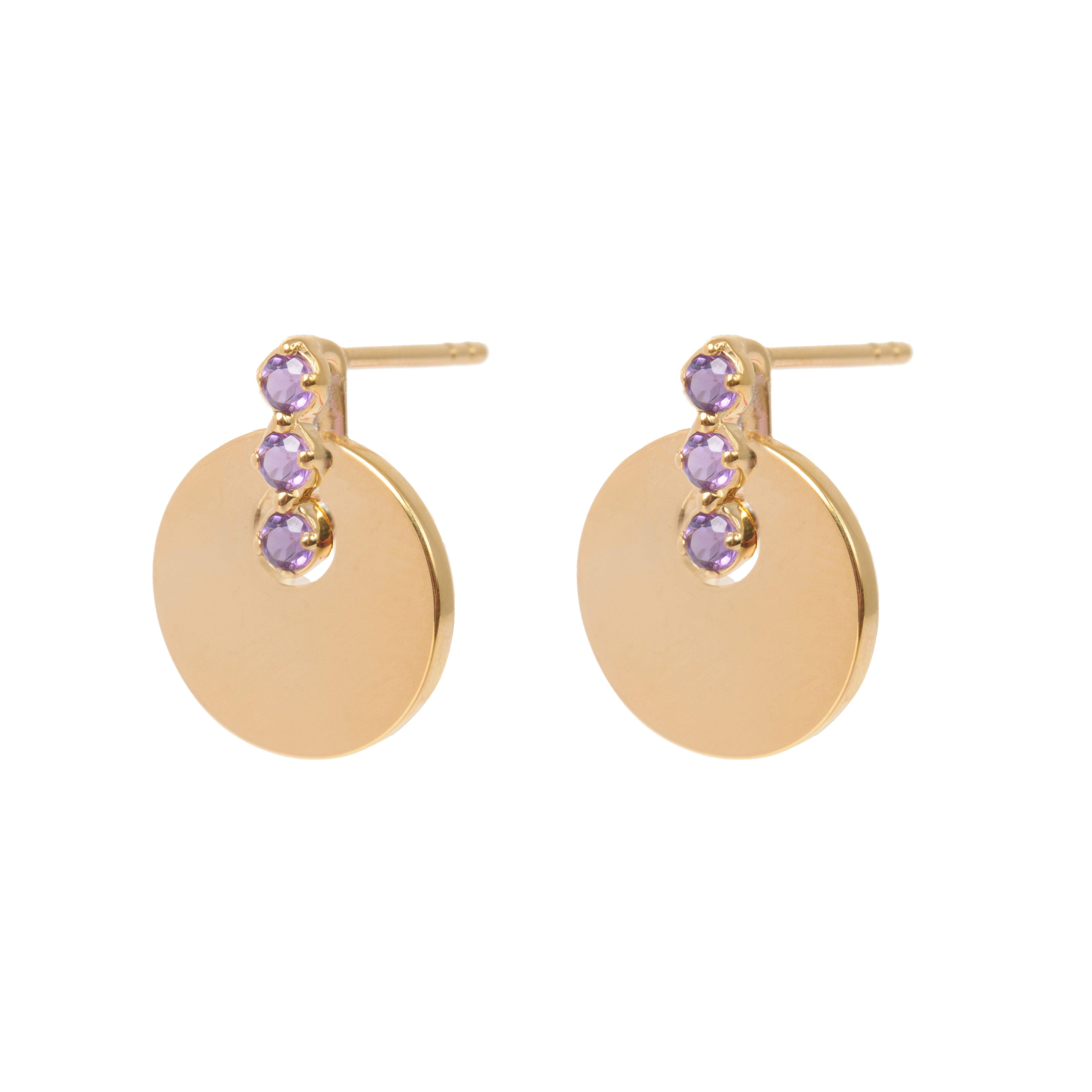 e6722b953 Amethyst Sienna Disc Earrings | The SIENNA Collection | Earrings ...