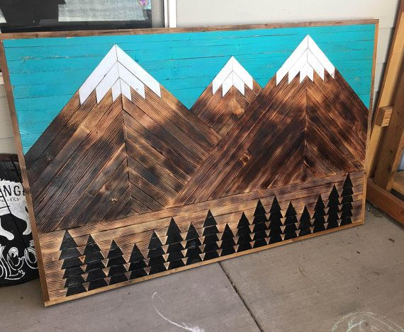 Reclaimed wood triangle colorado mountain range large for Reclaimed wood bend oregon