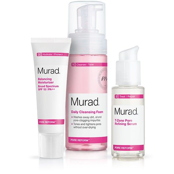 Murad S Pore Reform Regimen Is A Skin Care Routine Designed For Large Clogged Pores And Blackheads Read Reviews And Buy Mura With Images Skin Care Secrets Skin Care Pore