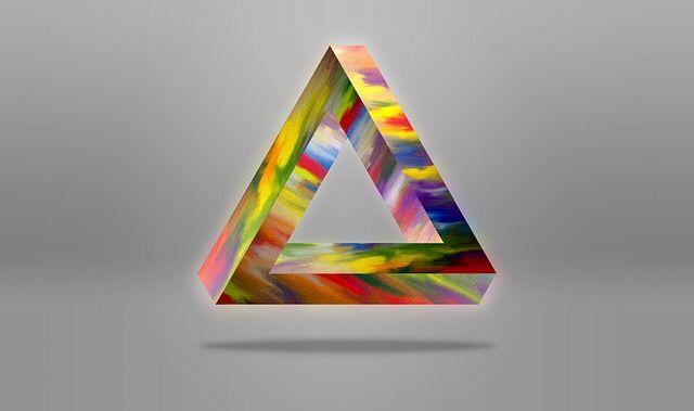 Amazing Art #Creative #Illusions - 3D Penrose Triangle  DIYSecret.com/  #Geometry #Art #PenroseTriangle #PenroseBar #3D #Abstract