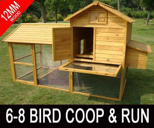 Large 7ft Cocoon Chicken Hen House Coop Poultry Ark Run