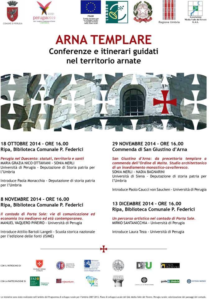 Italia Medievale: San Giustino d'Arna: da precettoria templare commenda dell'Ordine di Malta
