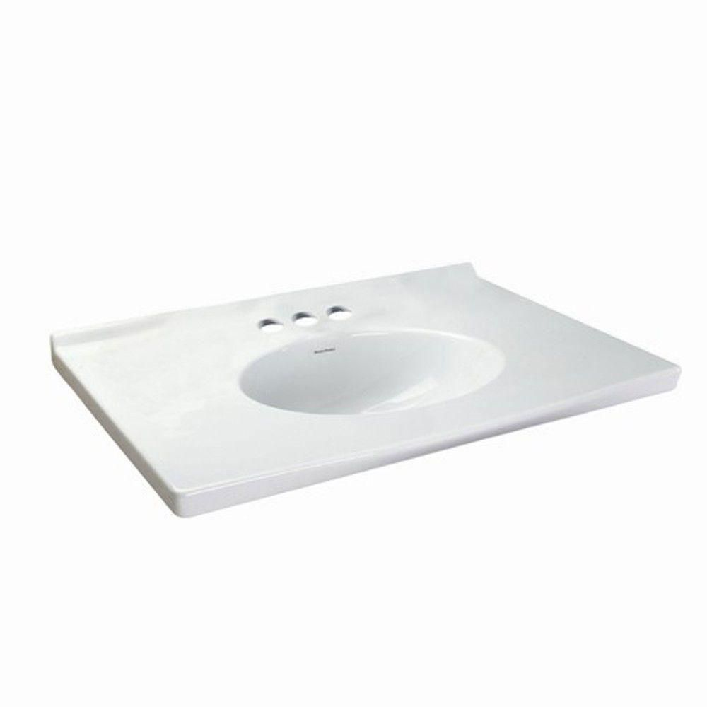 American Standard Portsmouth 31-1/8 inch Fine Fire Clay Vanity Top ...