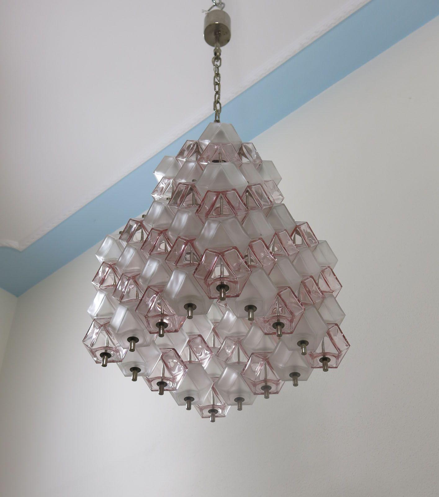 50s italian vintage murano poliedri glass chandelier venini attr 50s italian vintage murano poliedri glass chandelier venini attr mazzega era ebay arubaitofo Choice Image