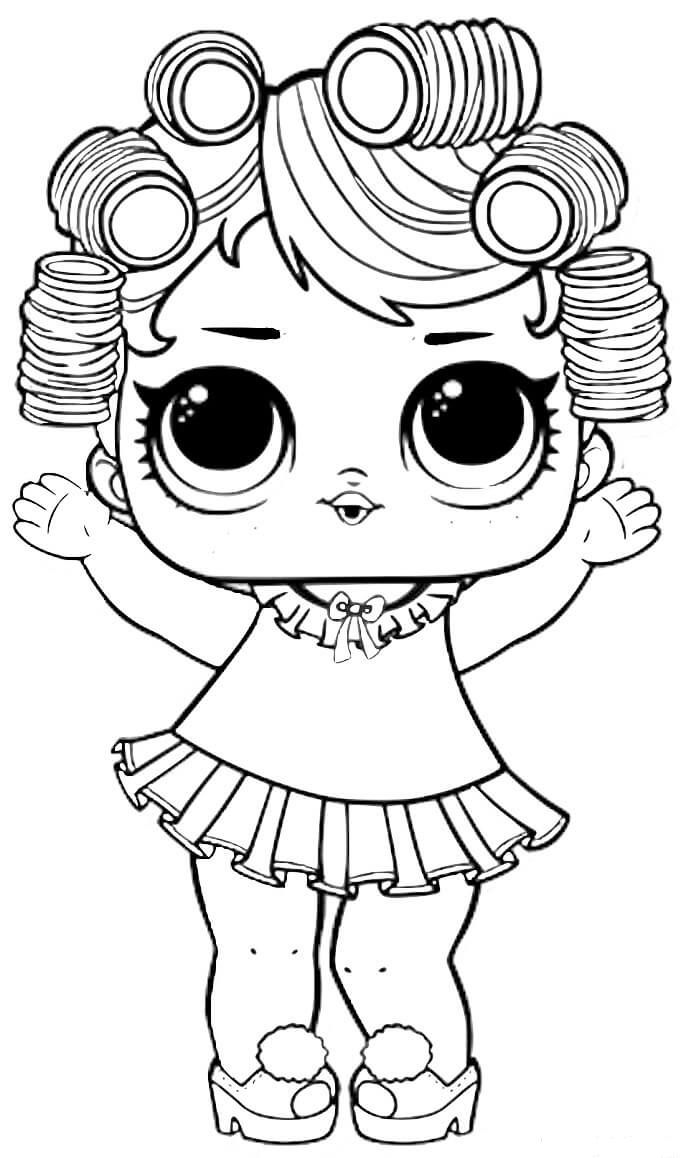 Baby Doll Lol Surprise Coloring Pages