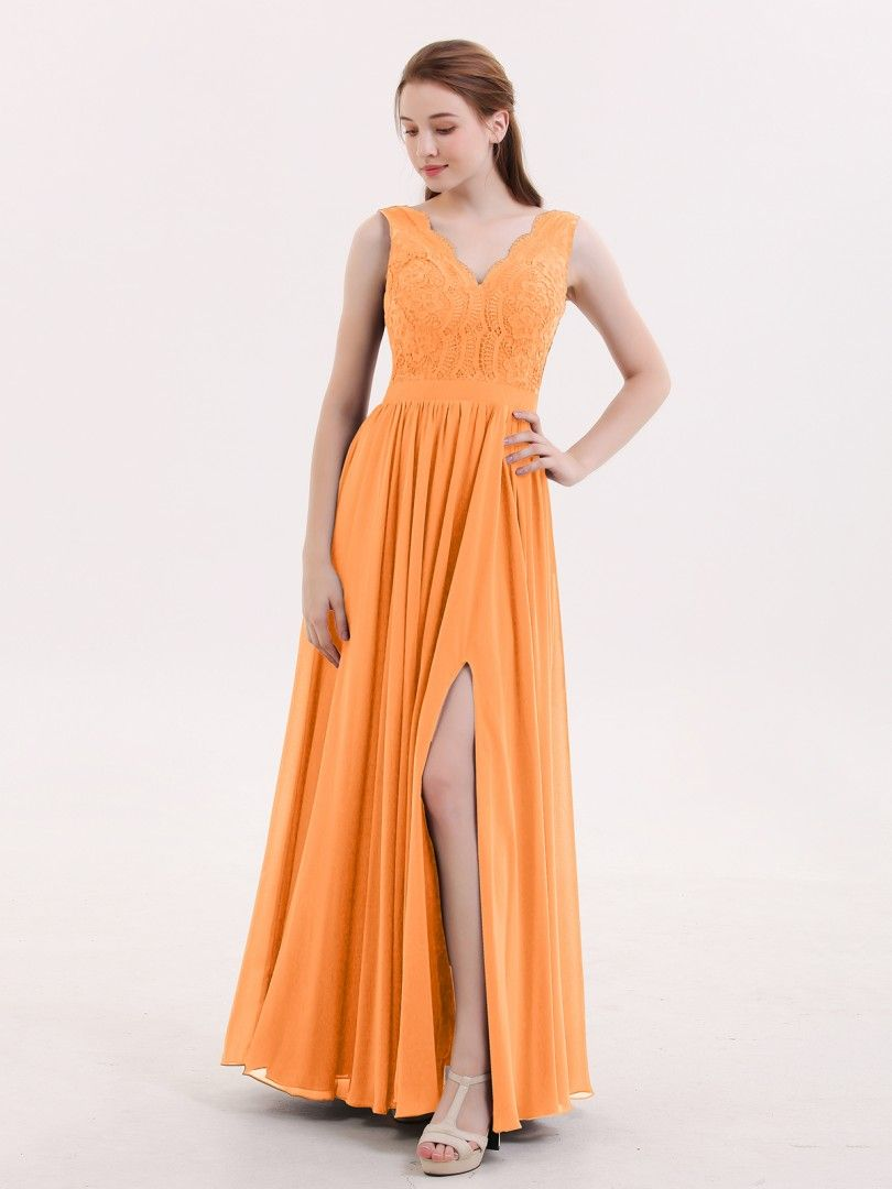 d3619d92538 Babaroni Constance Lace and Chiffon Sexy Dress with Slit