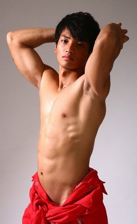 Asian male erect