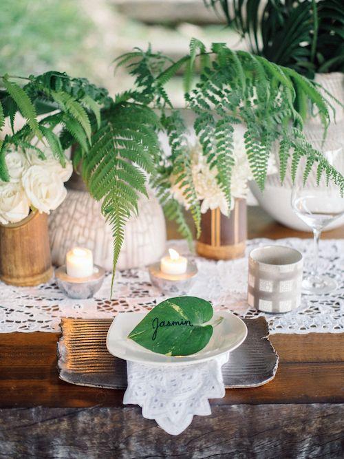 Bali wedding lush green jungle plants tablescape with ferns lace bali wedding lush green jungle plants tablescape with ferns lace and tropical leafs junglespirit Choice Image