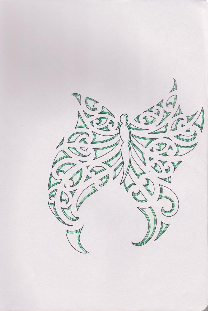 Small Maori Tattoo Designs: Maori Butterfly By Bloodempire On Deviantart.com