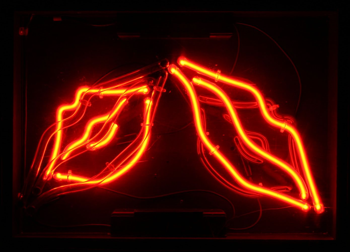 Red Lipped Tumblr Neon Signs Neon Light Wallpaper Neon Wall Art