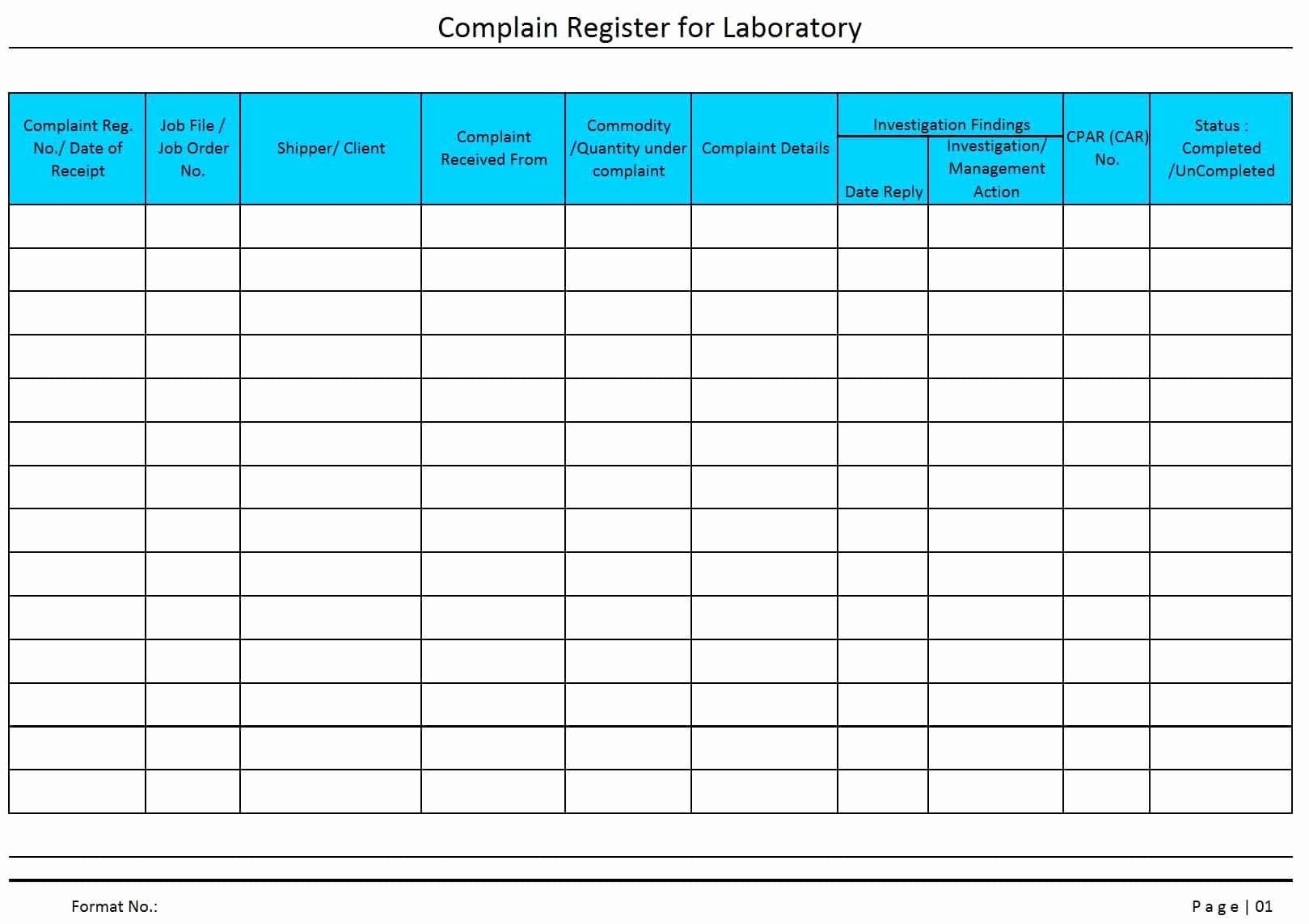 Customer Complaint Template For Excel Beautiful Tracking Plaints Excel Spreadsheet Printable Spreadshee Customer Complaints Lesson Plan Format Complaints