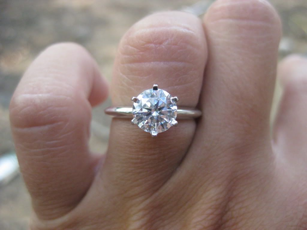 1 5 Carat H Asha In Classic Tiffany Betterthandiamond Com Diamond Engagement Rings 5 Carat Diamond Ring Rings