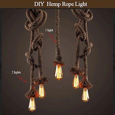 37 75 Vintage Creative Multifunction Hemp Rope Pendant Lights 1