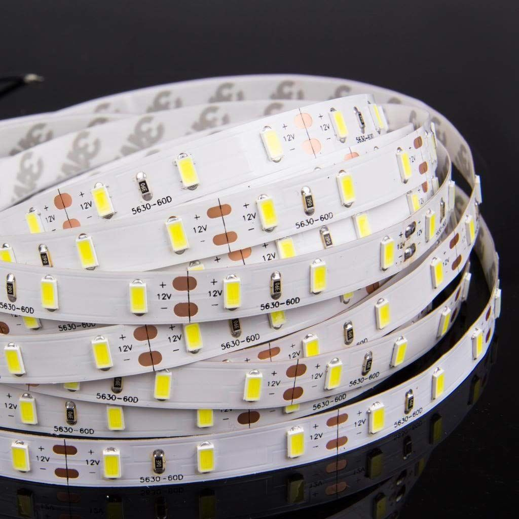 Led Strip Lights New Version Ledmo 2 Rolls 32 8ft Smd5630 6000k Tape Lighting 300 Units 12v Dc Waterproof I Led Strip Lighting Led Rope Lights 12v Led Lights
