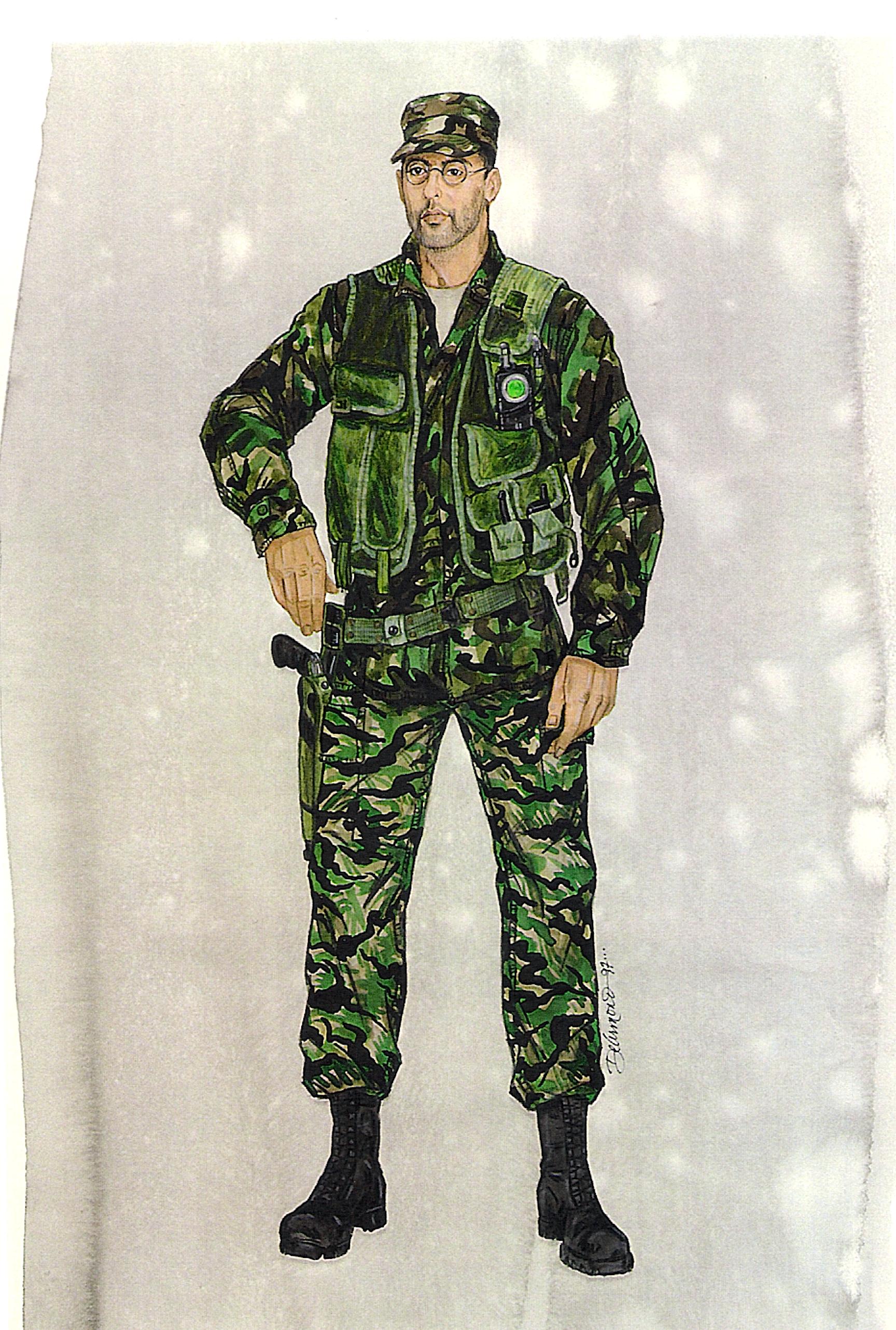 Godzilla,  Jean Reno uniform option.  #josephporrodesigns