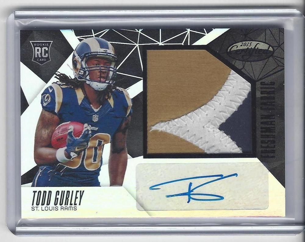 2015 Certified Football Todd Gurley Auto Black Patch True 1 Of 1 Rookie Card Rpa Cards Football Cards Black Patch