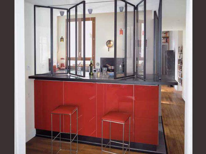 quelles souvrent partiellement ou en totalit les cuisines repoussent les murs pour esprit atelier pinterest belle bar et nice - Cloison Cuisine Americaine