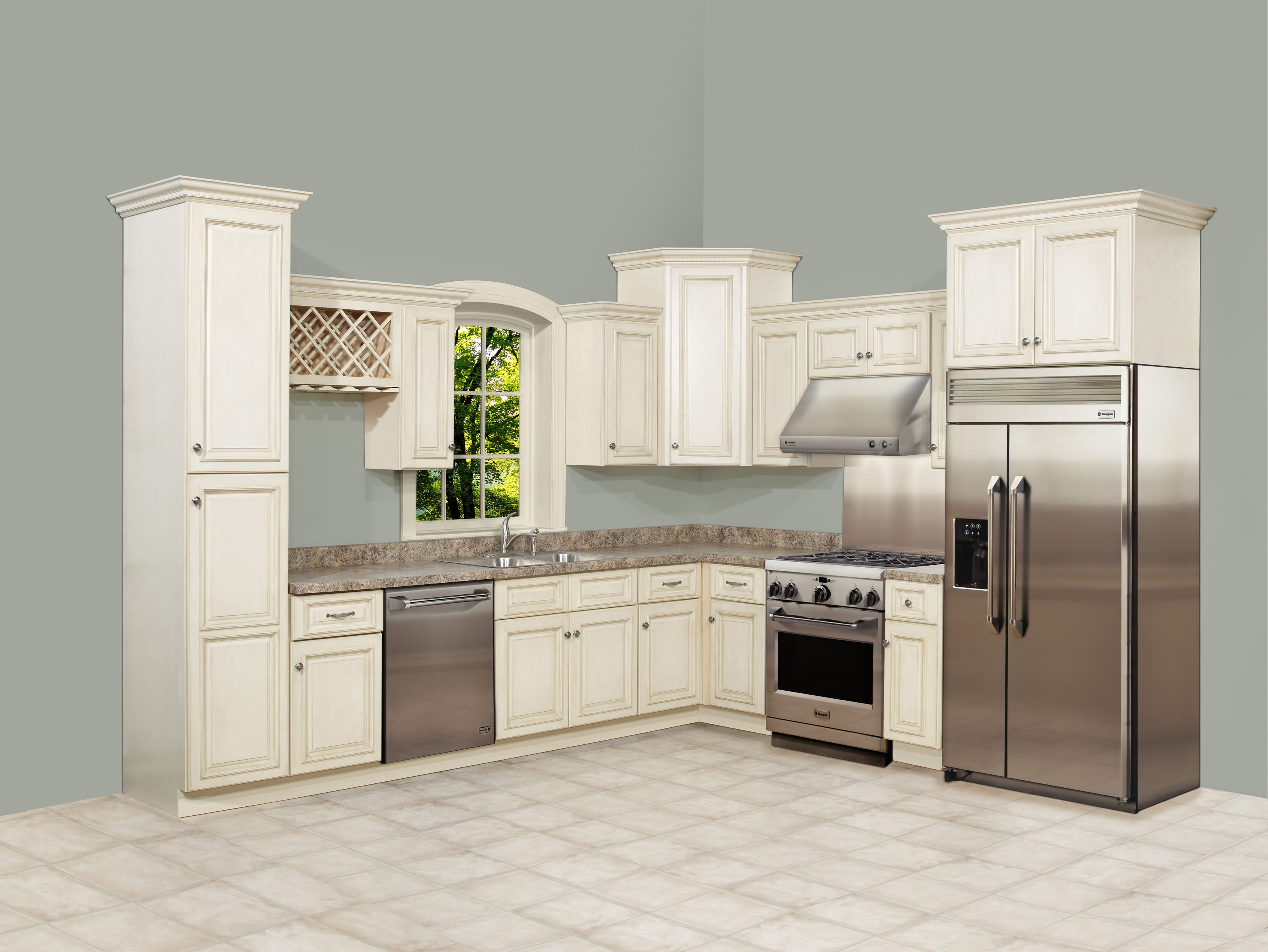 Tuscan Kitchen White Cabinets