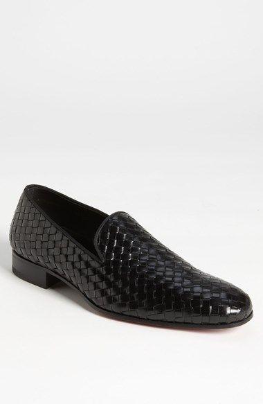 BOTTEGA VENETA Zapatos brogue negro-blanco estilo «business» Mujeres Flats Cuero