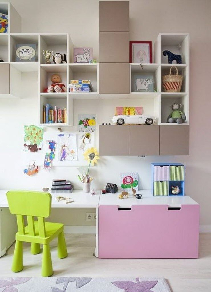 bureau fille stuva de chez ikea avec rangements muraux children pinterest bureau fille. Black Bedroom Furniture Sets. Home Design Ideas