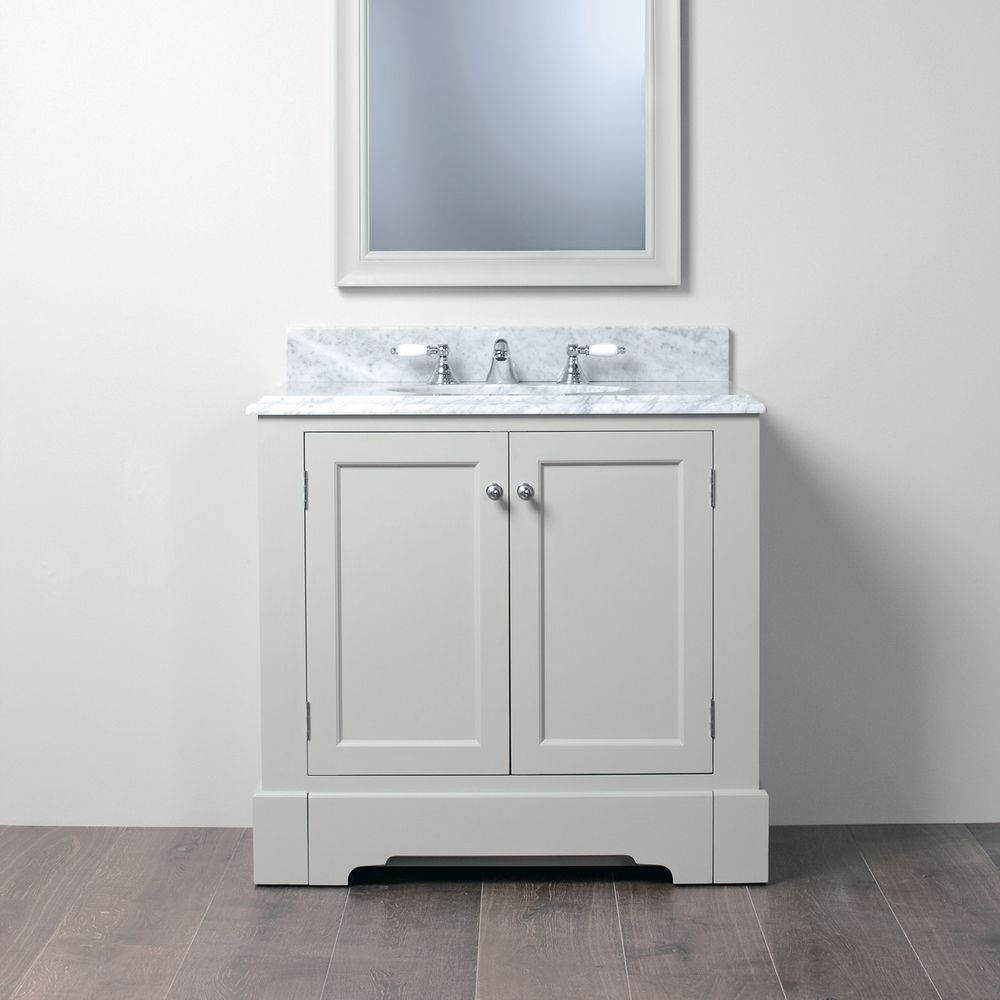 Photo Album For Website Porter Vanities Louis Single Unit Sink Cabinet with marble top exc taps
