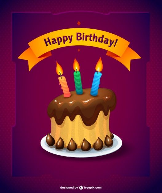 Birthday Cake Cards PRINTABLE* Set of 4