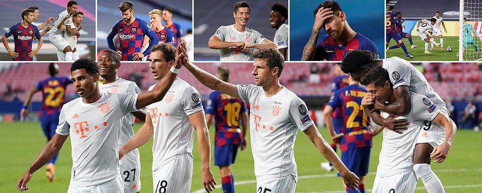 Barcelona Vs Bayern Munich Champions League Live Score And Updates In 2020 Bayern Munich Champions League Barcelona Players