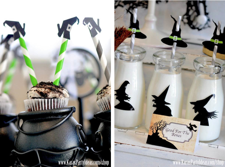 These printable WITCH SHOE cupcake/straw toppers & WITCH HAT straw toppers are available in Kara's Party Ideas shop for only $ 3! www.karaspartyideas.com/shop